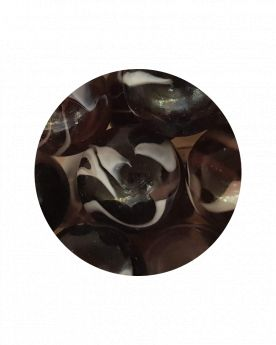 1 Large Marble Pourpre 35 mm Glass Marbles
