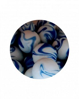 1 Large Marble Ozone 35 mm Glass Marbles