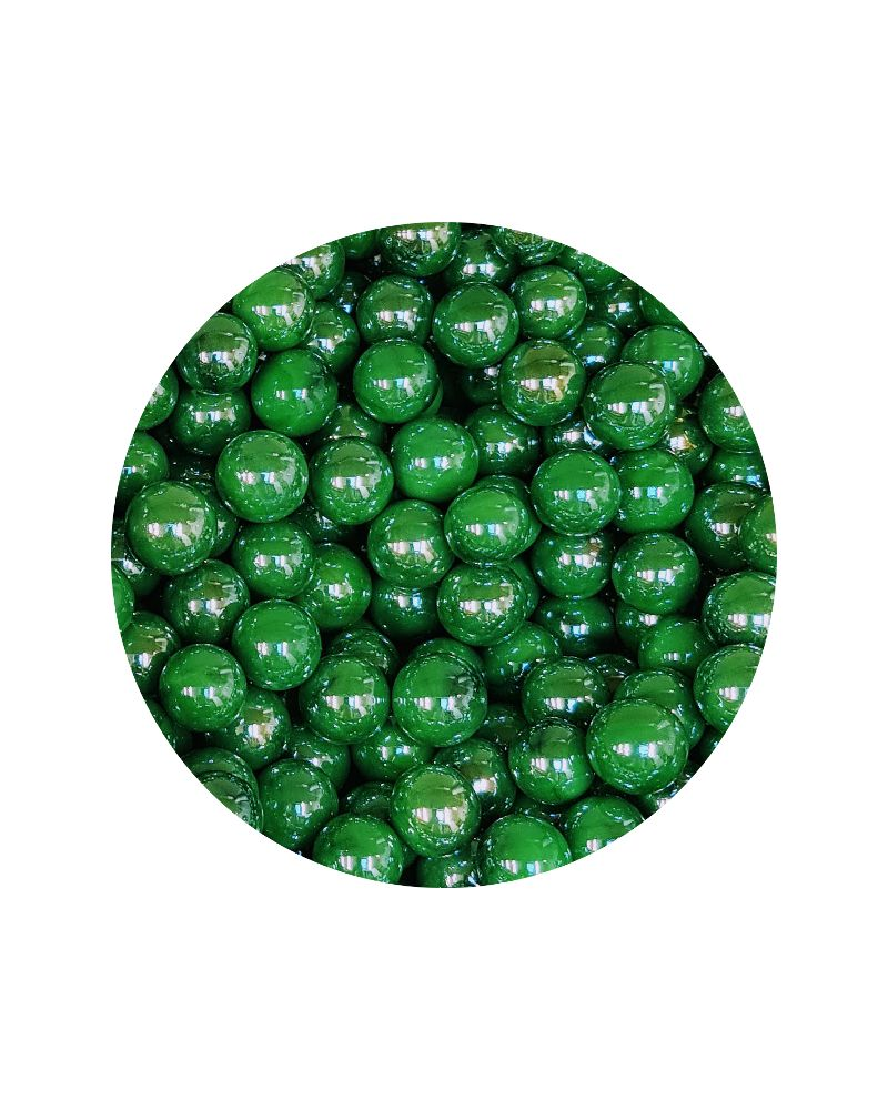 1 Small Green Glossy Marble - 14 mm Glass Marble
