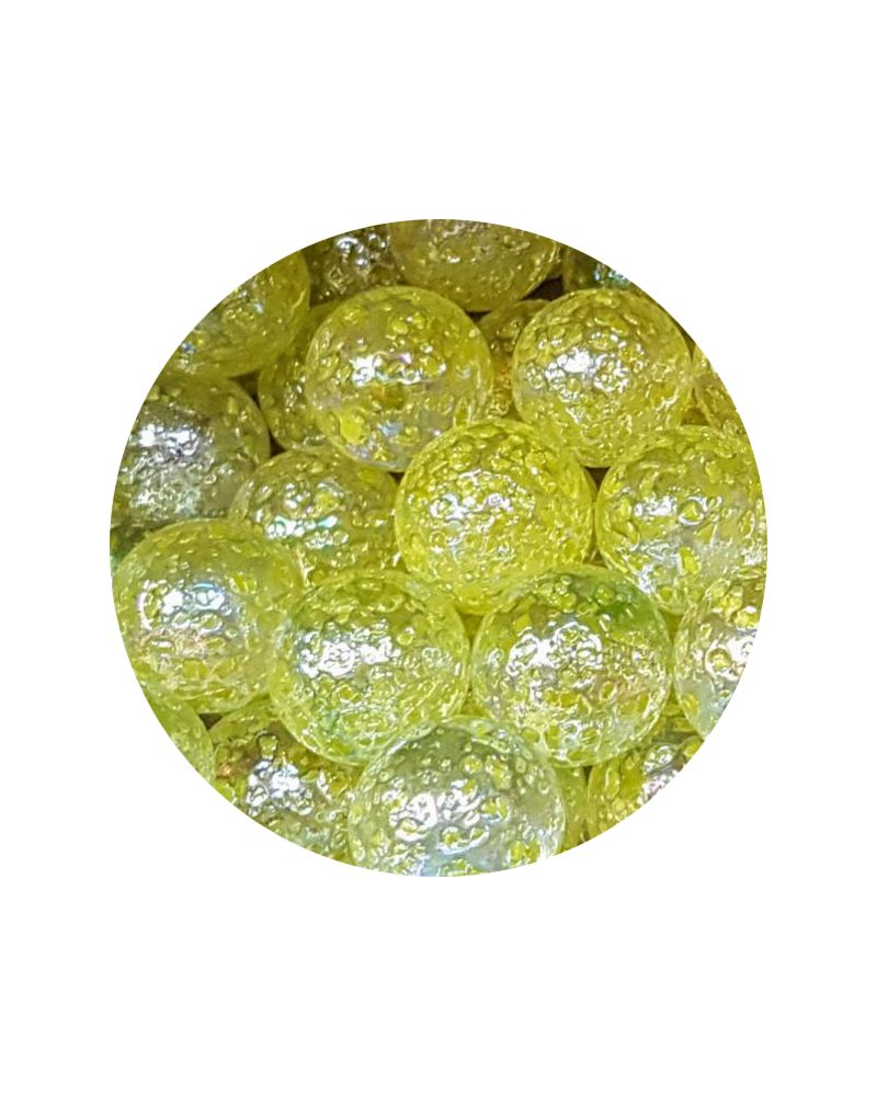 1 Large Marble Pépite-Jaune 35 mm Glass Marbles