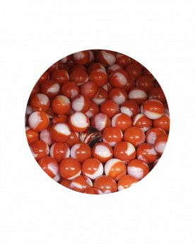 1 Little Marble Junon 14 mm Glass Marbles