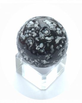1 Giant Marble Black Sprinkling 50 mm Glass Marbles - MyMarbles