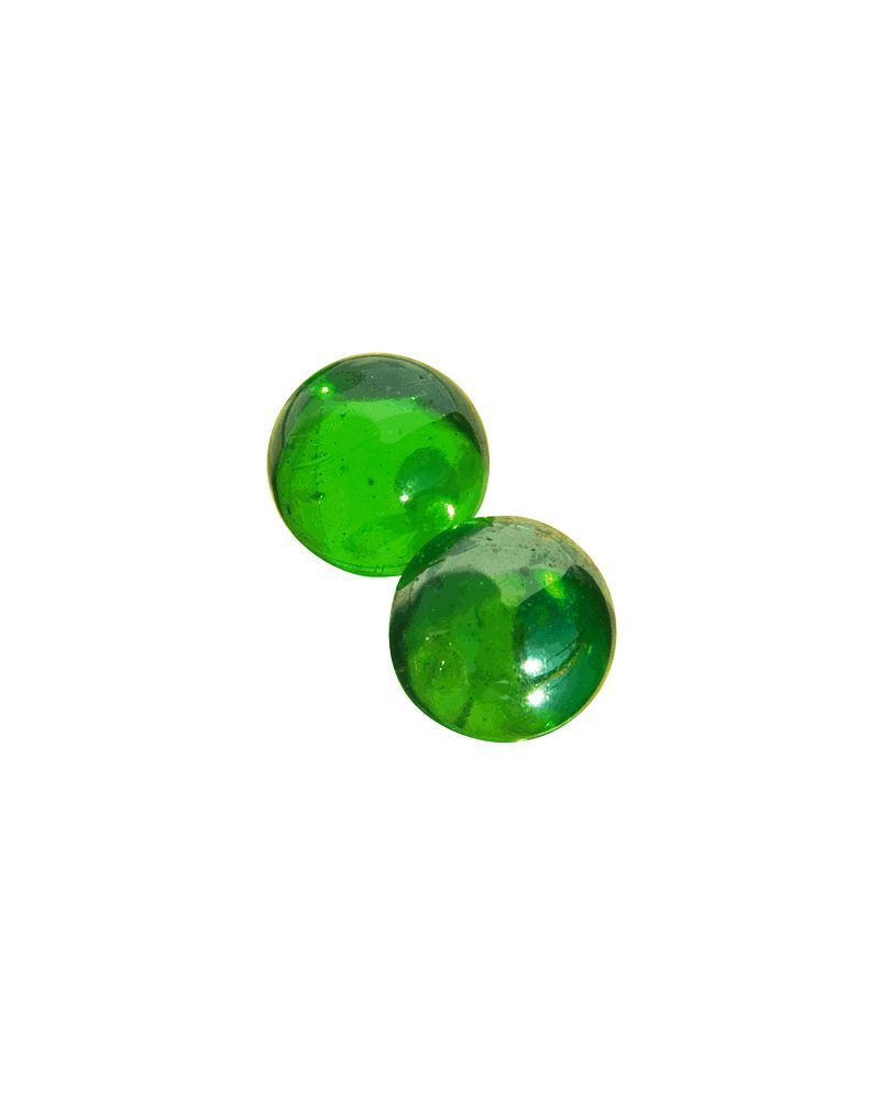 1 Giant Marble Mégalodon Verte 60 mm Glass Marbles