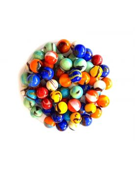 60 Jungle Glass Marbles - SOLIDAIRE
