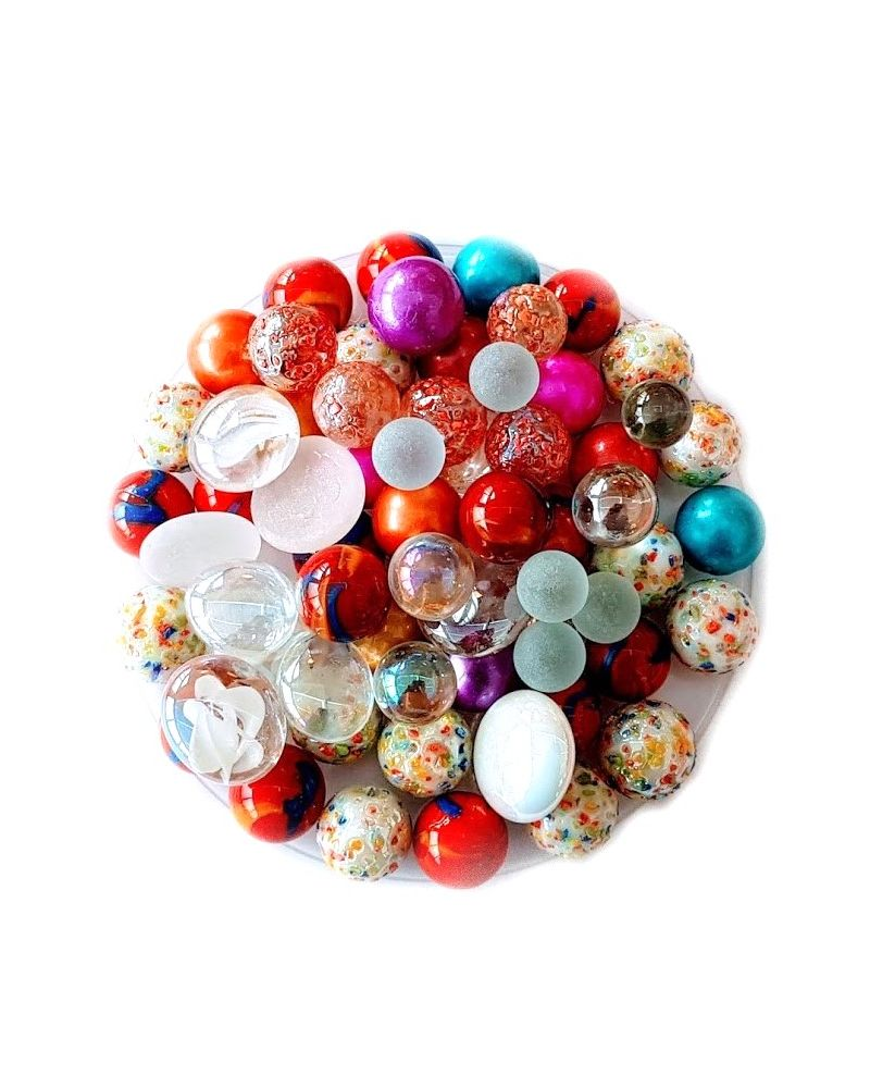 55 Marbles Bright Colours - Glass Marble Bag - MyMarbles