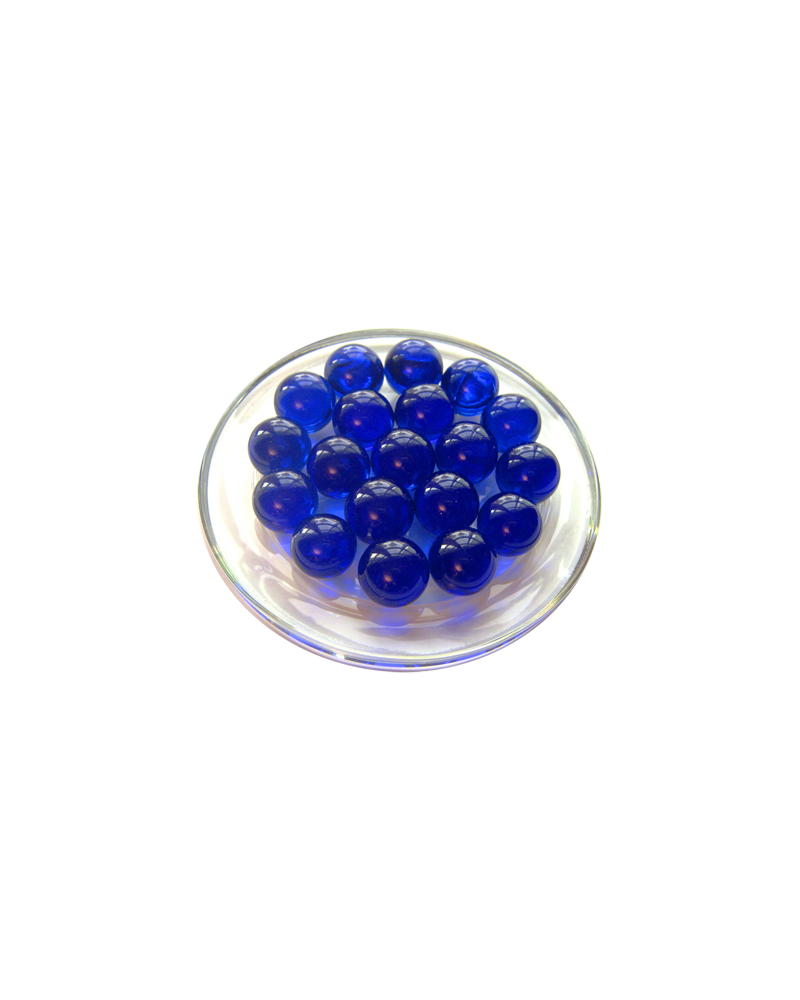 MyGlassMarbles - 25 Marbles Night Blue Magnifier - Glass Marble 16 mm by My GlassMarble