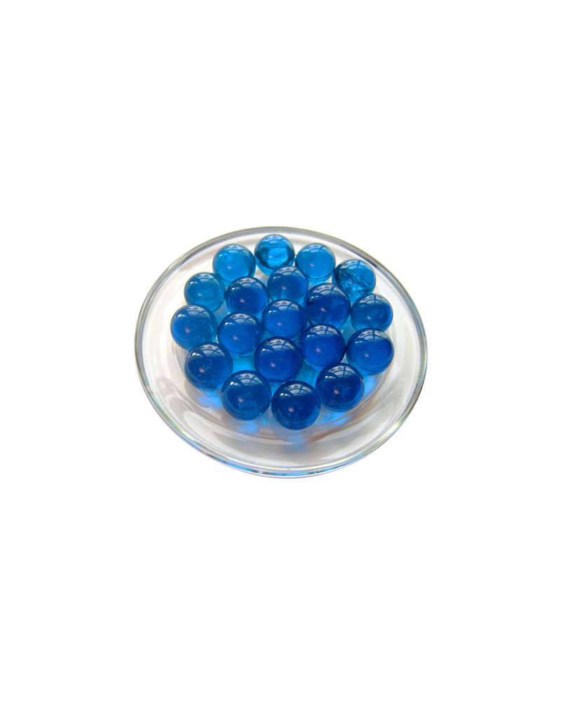 MyGlassMarbles - 25 Marbles Intense Blue - Glass Marble 16 mm by My GlassMarble