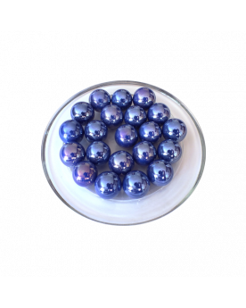 MyGlassMarbles - 25 Marbles Glossy Blue - Glass Marble 16 mm by My GlassMarble