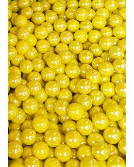MyGlassMarbles - 25 Marbles Glossy Yellow - Glass Marble 16 mm by My GlassMarble