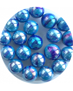 MyGlassMarbles - 25 Marbles China Blue - Glass Marble 16 mm by My GlassMarble