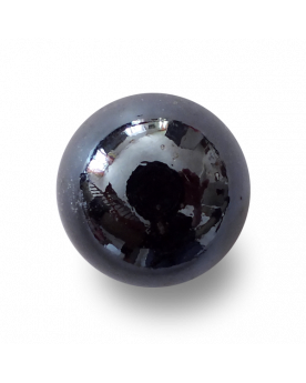 MyGlassMarbles - 25 Marbles Glossy Black - Glass Marble 16 mm by My GlassMarble