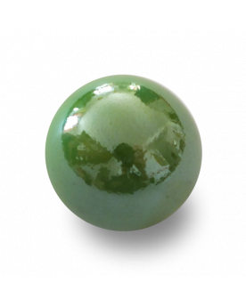 MyGlassMarbles - 25 Marbles Glossy Green - Glass Marble 16 mm by My GlassMarble