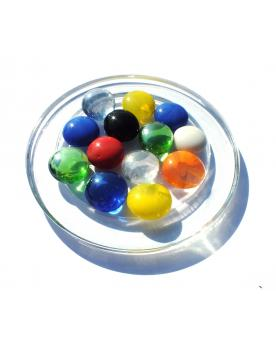 MyGlassMarbles - 20 Flat Marbles Mix Magnifier - Glass Marble 16 mm by My GlassMarble