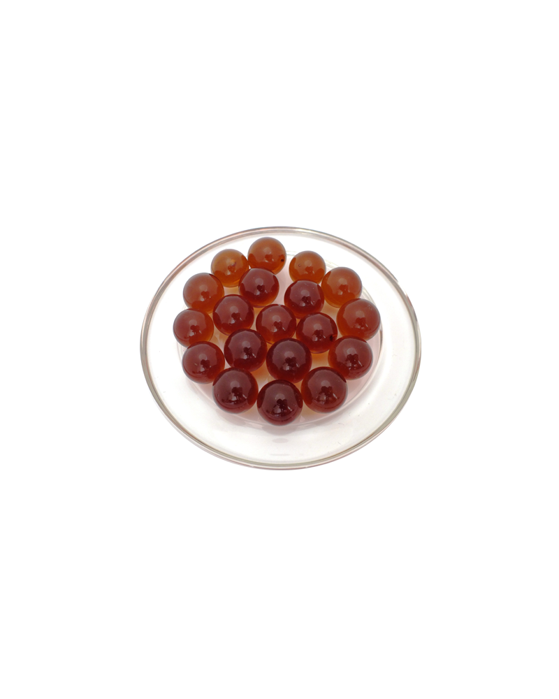 MyGlassMarbles - 25 Marbles Amber Magnifier - Glass Marble 16 mm by My GlassMarble