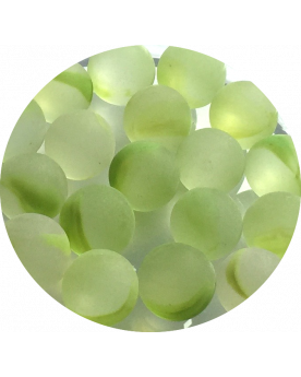 MyGlassMarbles - 25 Marbles Frosted Green - Glass Marble 16 mm by My GlassMarble