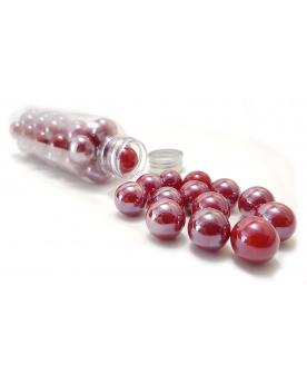 MyGlassMarbles - 25 Marbles Glossy Red - Glass Marble 16 mm by My GlassMarble