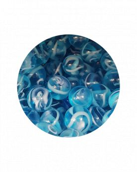 MyGlassMarbles - 25 Marbles H20 - Glass Marble 16 mm by My GlassMarble