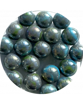 MyGlassMarbles - 25 Marbles Storm - Glass Marble 16 mm by My GlassMarble