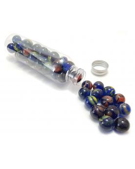 MyGlassMarbles - 25 Marbles Childhood - Glass Marble 16 mm by My GlassMarble