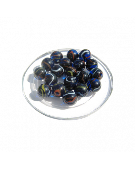MyGlassMarbles - 20 Michel Ange Flat Marbles - Glass shaped Marble 16 mm by My GlassMarble
