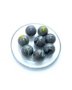 MyGlassMarbles - 4 Big Marble Jurassic - Glass Marbles 25 mm by My GlassMarble