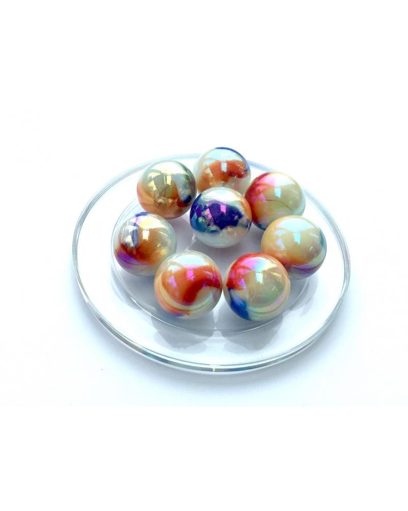 MyGlassMarbles - 4 Big Marble Frenchwoman - Glass Marbles 25 mm by My GlassMarble