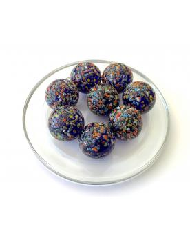 MyGlassMarbles - 4 Big Marble Star Nugget - Glass Marbles 25 mm by My GlassMarble