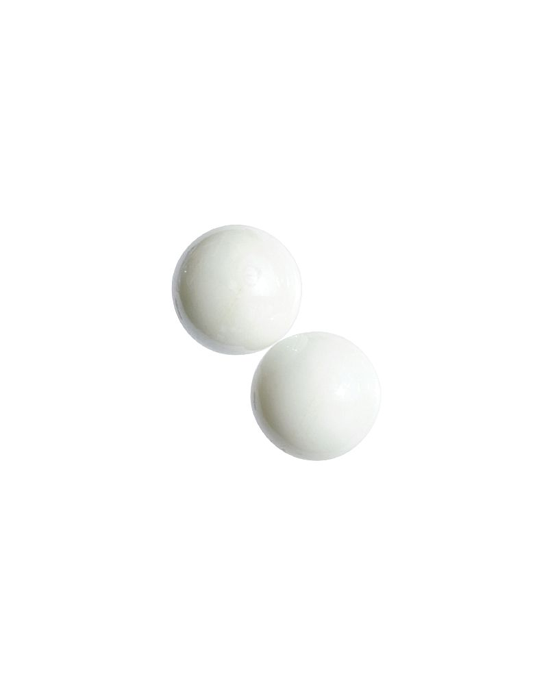 MyGlassMarbles - 4 Big Marble White Pearl - Glass Marbles 25 mm by My GlassMarble