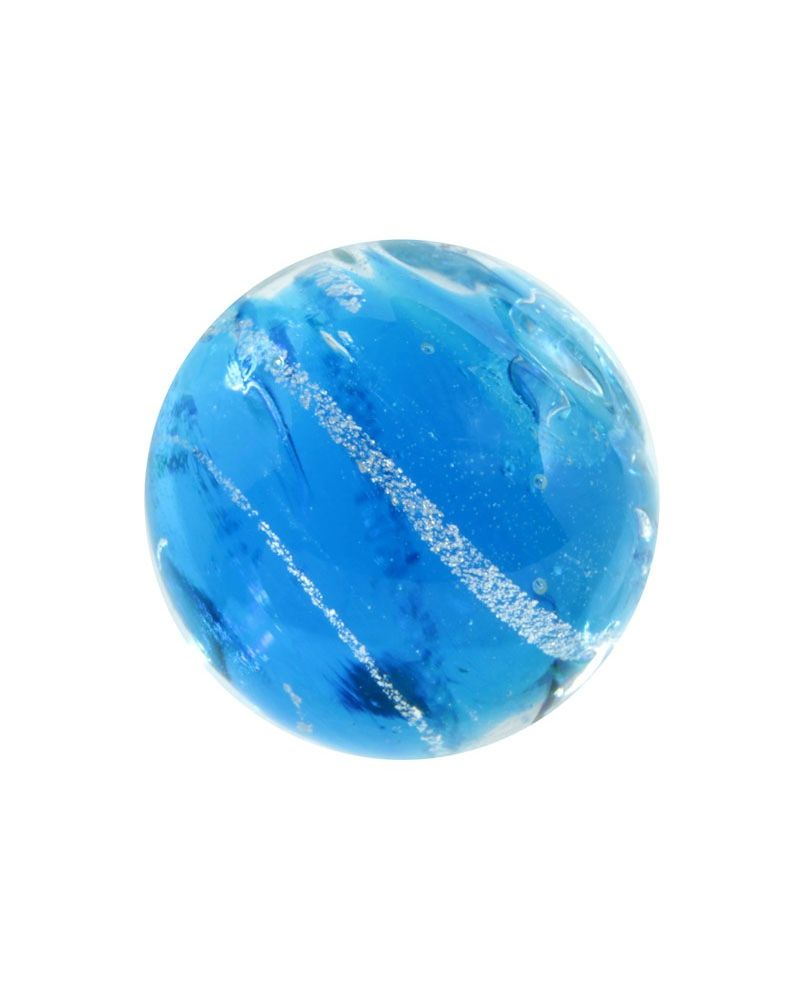 MyGlassMarbles - 2 Marbles Celestial Blue - Glass Marble 20 mm by My GlassMarble