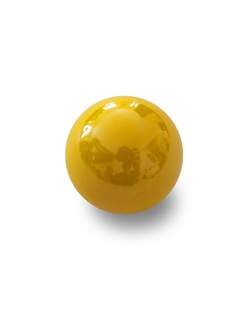 MyGlassMarbles - 4 Big Marble Glossy Yellow - Glass Marbles 25 mm by My GlassMarble