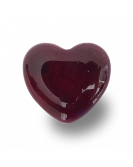 MyGlassMarbles - 15 Flat marbles Red Heart - Glass Marble 16 mm by My GlassMarble