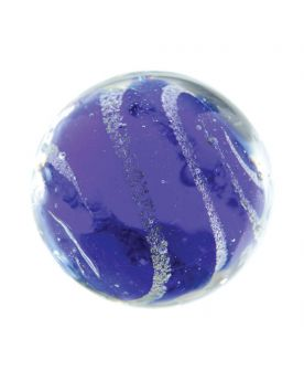 MyGlassMarbles - 2 Marbles Celestial Night Blue - Glass Marble 20 mm by My GlassMarble
