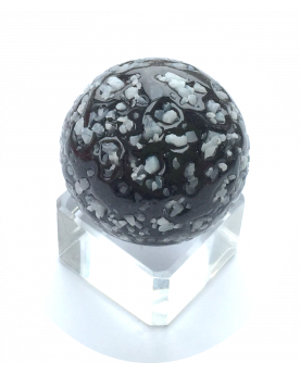 MyGlassMarbles - 4 Big Marble Black Nugget - Glass Marbles 25 mm by My GlassMarble