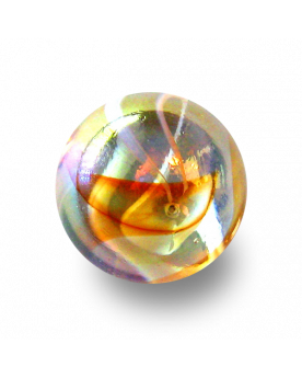 MyGlassMarbles - 4 Big Marble Lemonade - Glass Marbles 25 mm by My GlassMarble
