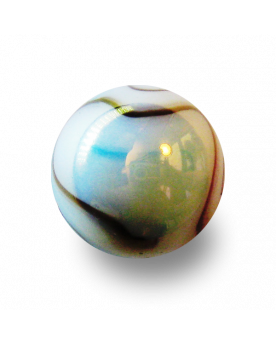MyGlassMarbles - 4 Big Marble White Tiger - Glass Marbles 25 mm by My GlassMarble