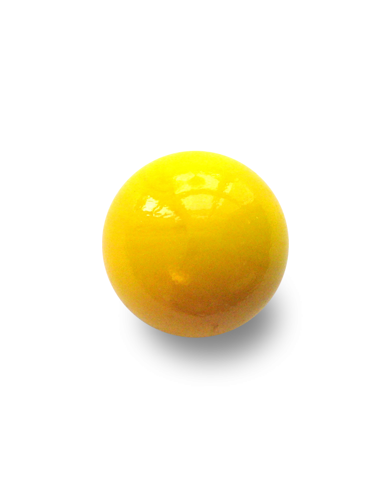 MyGlassMarbles - 4 Big Marble Yellow Pearl - Glass Marbles 25 mm by My GlassMarble