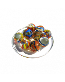 MyGlassMarbles - 4 Big Marble Parrot - Glass Marbles 25 mm by My GlassMarble