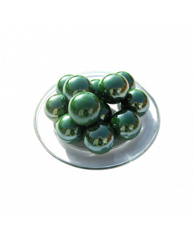 MyGlassMarbles - 4 Big Marble Green Glossy - Glass Marbles 25 mm by My GlassMarble