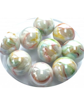 MyGlassMarbles - 4 Big Marble Precious - Glass Marbles 25 mm by My GlassMarble