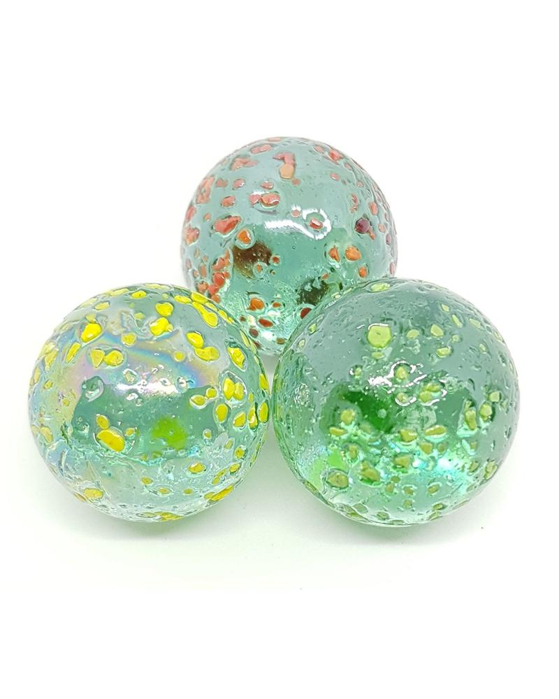 MyGlassMarbles - 4 Big Marble Nugget - Glass Marbles 25 mm by My GlassMarble