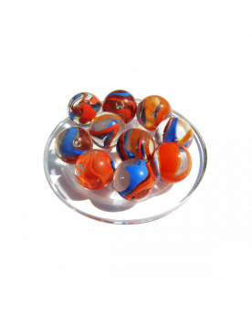 MyGlassMarbles - 4 Big Marble Spotlight - Glass Marbles 25 mm by My GlassMarble