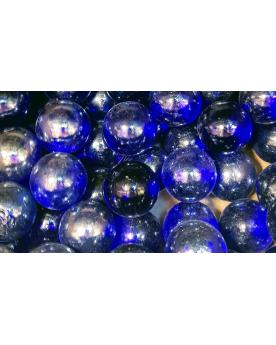 MyGlassMarbles - 4 Big Marble Intense Blue Magnifier - Glass Marbles 25 mm by My GlassMarble