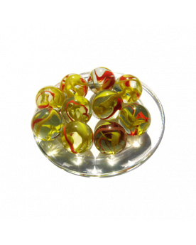 MyGlassMarbles - 4 Big Marble Condor - Glass Marbles 25 mm by My GlassMarble