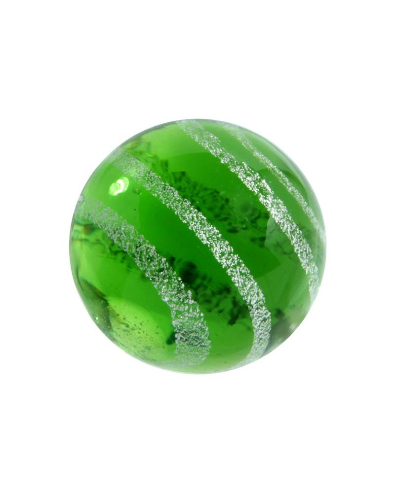 MyGlassMarbles - 2 Marbles Celestial Green - Glass Marble 20 mm by My GlassMarble