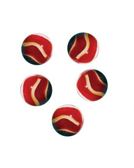 MyGlassMarbles - 4 Big Marble Blood - Glass Marbles 25 mm by My GlassMarble