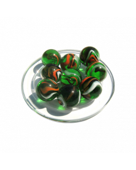MyGlassMarbles - 4 Big Marble Crocodile - Glass Marbles 25 mm by My GlassMarble
