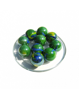 MyGlassMarbles - 4 Big Marble Gloster - Glass Marbles 25 mm by My GlassMarble