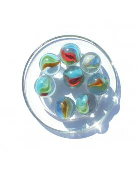 MyGlassMarbles - 4 Big Marble Cat Eye - Glass Marbles 25 mm by My GlassMarble