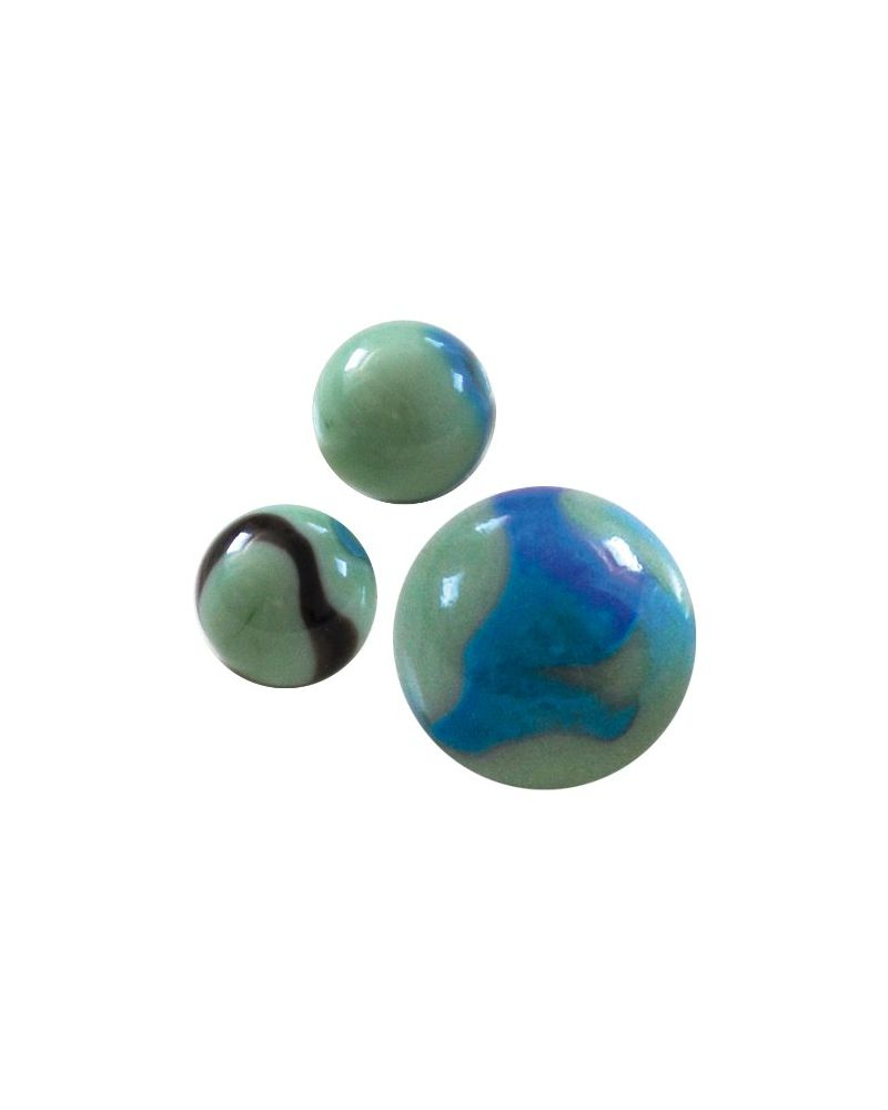 MyGlassMarbles - 4 Big Marble Matisse - Glass Marbles 25 mm by My GlassMarble