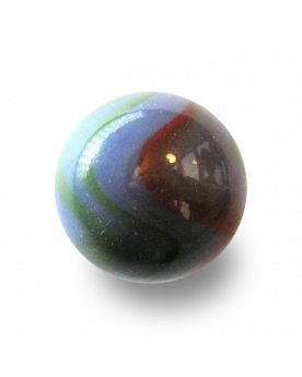 MyGlassMarbles - 9 Shooters Light Marbles - Glass Marble 25 mm by My GlassMarble